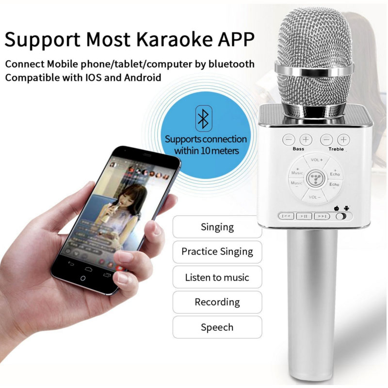Original Brand Tosing Q9 04 wireless Karaoke Microphone Bluetooth Speaker 2-in-1 Handheld Sing & Recording Portable KTV Player-3
