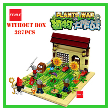 2017 387pcs new ideas plants vs zombies struck game Building Blocks set Toys For Children