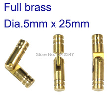 10pcs CH5X25 gift wood case 5mm diameter brass barrel cylindrical hinge size length 25mm insert hinge round cylinder box hinge(China)