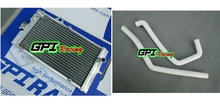 GPI aluminum racing Radiator +WHITE HOSE for Yamaha Raptor YFM 700R YFM700R 2006-2012 2007 2008 2009 2010 2011 06 07 08 09 10(China)