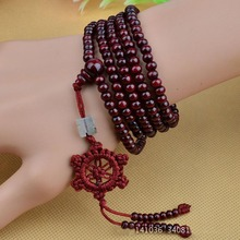 LNRRABC hot Fashion Brand Handmade Bead Wood Bracelet Multilayer Beads Buddha Bracelet Men Women  Brown