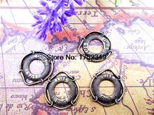 15pcs--Life Ring charms,Antique Bronze Life Preserver Charm pendants,Jewelry Making 22x24m
