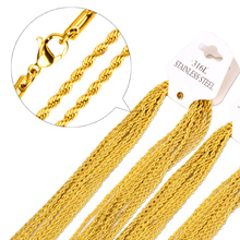 Gold 316L Stainless Steel Necklace Chain for Men and Women Stainless Steel Gold Bulk Chains Necklaces High Quality