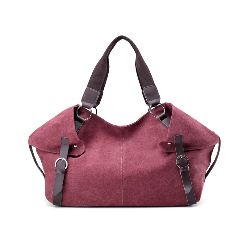 Original retro European and American wind canvas handbag travel bag shoulder Messenger bag leisure<br>