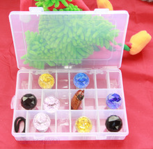 1PCS Various Grid design Compartment Slot Organizer Storage Beads Box Plastic Jewelry Earring Adjustable Organizador Bin Case(China)