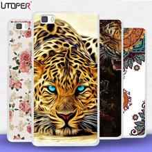 Fundas For Huawei P8 lite case transparent Silicone cover Flower Dog Cat lion Case For Huawei P 8 lite Soft TPU DIY Phone cases