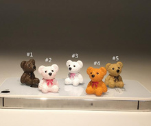 Free shipping 1pcs 2cm high quality cute teddy bear subminiature figure toys teddy bear collection decoration DIY toys