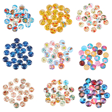 20 Pcs Mixed Glass Cabochon For Christmas Decorations Cabochon Flatback Scrapbooking Embellishment Settings DIY Making Jewelry(China)