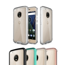 TPU Bumper+Acrylic Transparent Clear Back Cover Case For Motorola Moto G5 Plus + Protection Air Hybrid Phone Case for Moto G5