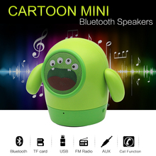 Bluetooth Speaker Cute Mini Wireless Deep Bass Doll Speakers Cartoon Subwoofer Speaker Support TF Card Children's Gift of NewPal(China)