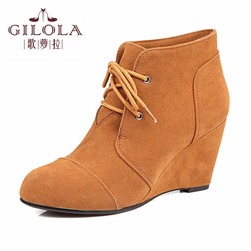 new fashion wedge high heels platform sexy womens ankle women snow boots shoes woman autumn winter boots best #Y1160083F<br><br>Aliexpress