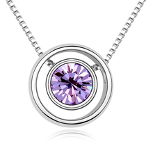8 Colors Real Austrian Crystals  Pendant Necklace for women Fashion Necklace New Sale Hot #99311