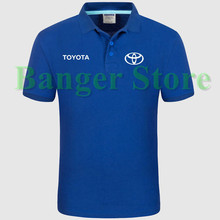 Toyota car logo Polo shirt 4S shop short sleeved polo shirt overalls women and mens