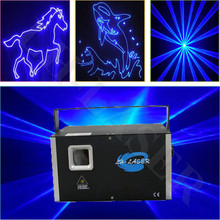 Cheap Blue laser light with sd card and lcd display for KTV, OEM blue laser projector(China)