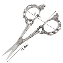 European-style Vintage Floral Pattern Scissors Seamstress Plum Blossom Tailor Scissor Antique Sewing Scissors for Fabric Tool(China)