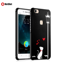 NetDot Case For VIVO X6 Cover Fashion Love Silicone TPU colour decoration 3D Cases X6Plus Phone Case Cartoon Brown Bear Cover(China)