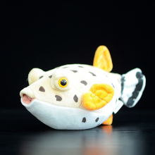 25cm Lovely Boxfish Plush Toys Super Soft Simulation Fish Stuffed Doll Sea Animal Plush Animals Toy Gift(China)