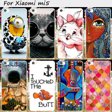 Hard Plastic&Soft TPU Silicones Mobile Phone Cover For Xiaomi 5 Mi5 Mi 5 m5 Cases Cool Skull Pinted Back Protective Phone Bags
