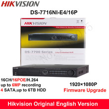 Buy stock Hikvision Original English NVR DS-7716NI-E4/16P Embedded Plug&Play NVR 16PoE 4SATA H.264 6MP connect 16 IP Camera for $450.00 in AliExpress store