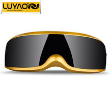 LUYAO Fashion USB Mini Head Eye massager.Electric Vibration Magnetic therapy acupuncture eye massager glasses.Dispel eye bags(China)