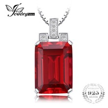 JewelryPalace Luxury 9.5ct Red Created Ruby 925 Sterling Silver Pendant Fine Jewelry for Women Accessories Not Include the Chain(China)