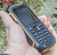 Quality Walkie Talkie PTT Mobile Phone X6 LCD Flishlight GSM Dual SIM Senior 2500mAH Shockproof Dustproof Military cell Phone(China)
