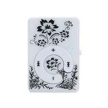 HOT SALE fashion Mini Clip Flower Pattern MP3 Player Music Media Support Micro SD TF Card Slick stylish design Sport Compact