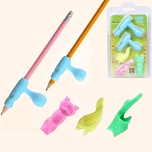 Young children pupils Pen And pencil Grip writing posture corrective braces with school supplies wy Boxed Colored gloves drawing(China)