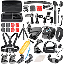 36-In-1 Sport Accessory Kit GoPro Hero4 Session Hero for Xiaomi Yi in Swimming Rowing Skiing Climbing Bike Riding Camping Diving