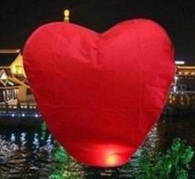 Red Heart Sky Lanterns Chinese Paper Sky Candle Fire Balloons for Wedding / Anniversary / Party / Valentine(China)