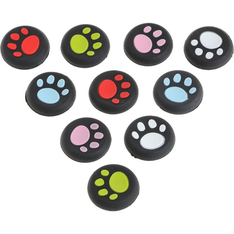 New 10Pcs/Set Cat Claw Silicone Thumbstick Grips Caps Sony PlayStation 4 PS4