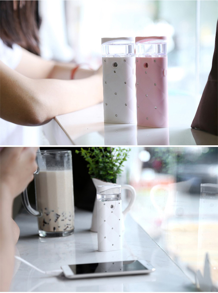 USB Charging Nano Mist Face Spray For Women Portable Face Sprayer Multifunction Moisturizing Facial Care Tool With Power Bank 17