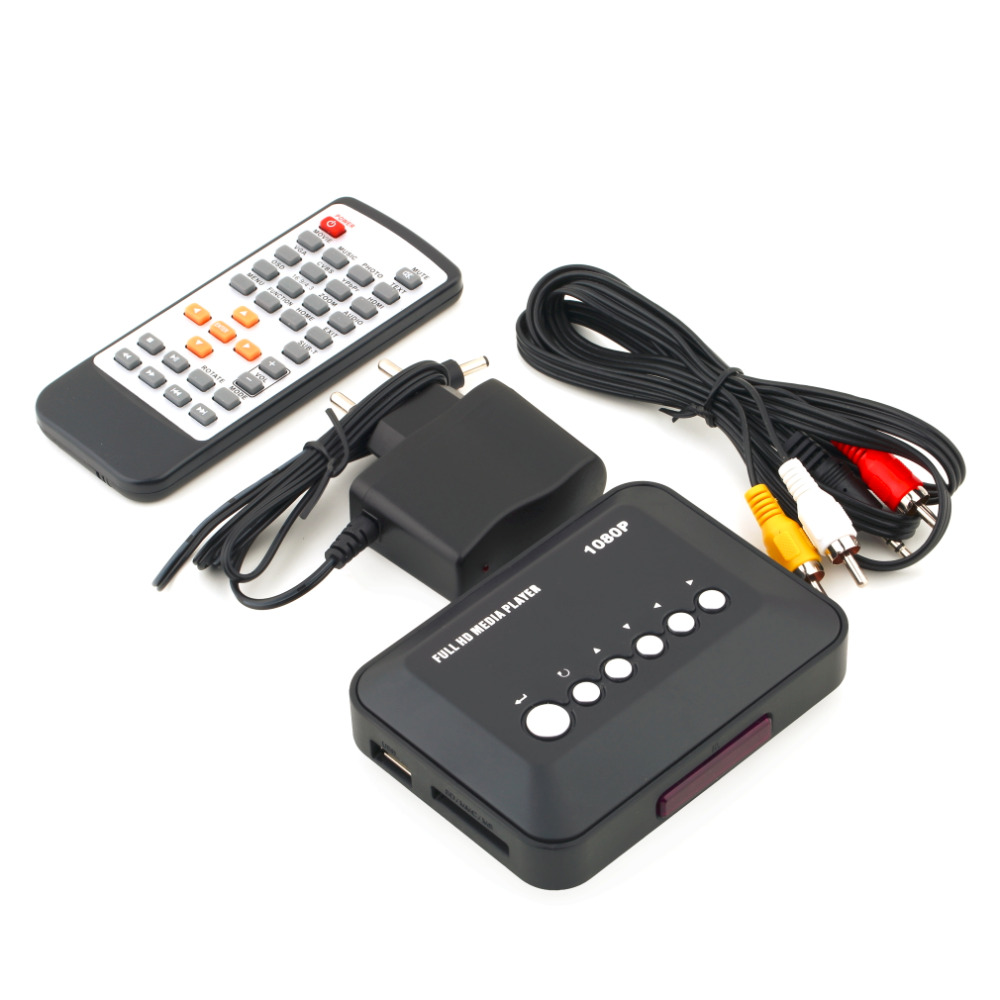 1Pcs Freeshipping 1080P HD SD/MMC TV Videos SD MMC RMVB MP3 Multi TV USB HDMI Media Player Box<br><br>Aliexpress