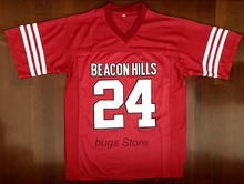 EJ Stiles Stilinski #24 TEEN WOLF TV Series American Football Jerseys Throwback Red(China)