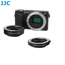 JJC Automatic Extension Tube 10mm+16mm Sets Metal Auto Focus NEX E-Mount Camera Body Lens Adapter Ring for Sony NXE-3 NEX-5