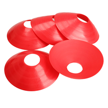 5 Pcs Outdoor Sport Football Soccer Rugby Speed Training Disc Cone Track Space Marker Inline Skating Cross Speed Training Tools(China)