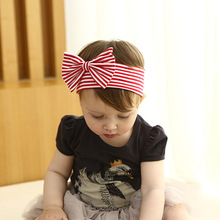 2017 New Fashion Girls Elastic Headband Classic Cotton White Red Strips Hairbands Headwaear Kids Hair Accessories 0-3 years