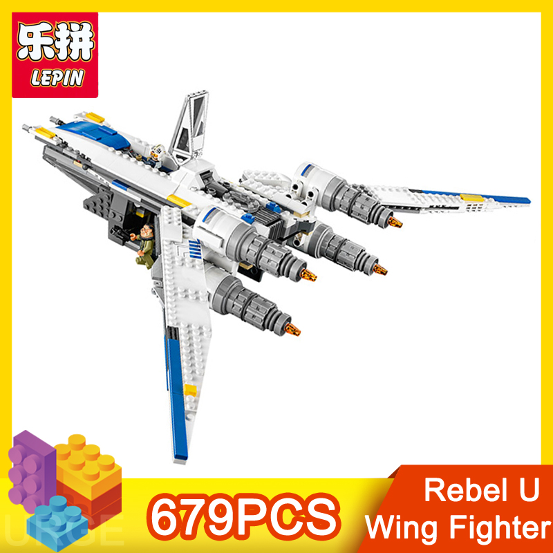 lepin star Series action figure Rebel U Wing Fighter  679pcs bricks educational building blocks toy for children Christmas gift<br>
