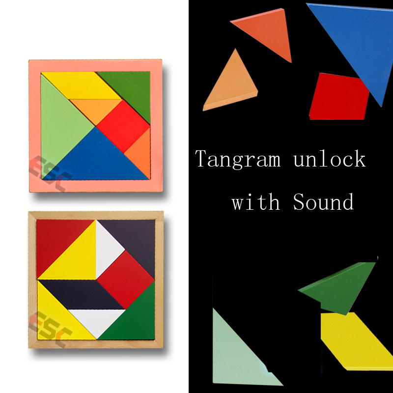 Game props Tools Tangram unlock and Sound game Reality Room Escape props puzzles open lock electronic<br><br>Aliexpress