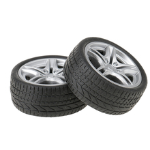 Durable 2pcs Rubber Wheels Tyres Car Truck Model Toys Wheels 35/48mm for Truck/Buses Making Kids Vehicles Toy RC Spare Parts(China)