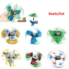 Buy KAZI 6sets/lot Christmas gifts kids Hand Spinner Building blocks educational Toys New Year Gift Toys Gift Anti Stress for $7.39 in AliExpress store