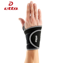 Etto Brand 2pcs/lot Bind Thumb Wristbands Men Sports Gym Wrist Brace For Weight Lifting Basketball Bandage Wrist Support HBP108