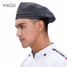 Viaoli 2017 Senior restaurant hotel waiter hat multi-color breathable mesh hat, kitchen hat after catering(China)