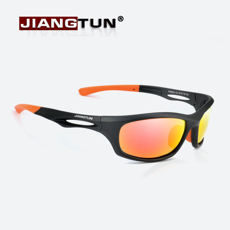 b34660fe1421 JIANGTUN Flexible TR90 Sport Sunglasses Men Polarized Brand Designer UV400  Protection Sun Glasses Outdoor Cool Goggles Oculos-in Sunglasses from Men s  ...