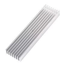 Electrical 100*25*10 Silver DIY Cooler Heatsink  Aluminum Heat Sink Chip for LED Power Transistor