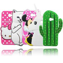 Silicone Y6 II Compact Case Cute Cartoon Cat Bear Batman Minnie Cactus Tiger Lips Hello Kitty Cases For Huawei Y6 II Compact