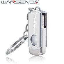 High speed Metal USB Flash Drive stainless steel Pen Drive 4gb 8gb 16gb 32gb 64gb Wansenda U disk USB 2.0 Memory Stick Free ship