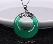 Top Quality Green Red Agate Carved Safety Buckle Lucky Blessing Pendant Chain necklace Fine Jade Jewelry for woman and man