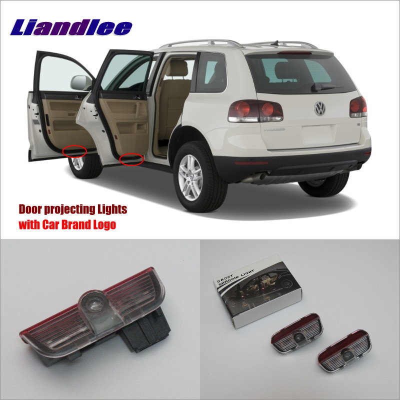 Liandlee Car LED Courtesy Welcome Lights For Skoda Superb 2009~2014 Projector Light Of Car Projector Lamp Vehicle Door Lamp<br>