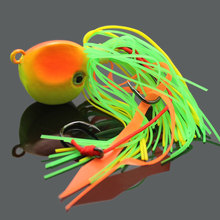 2PCS New 40g Grass Green Lead Fishing Bait Jig Lure with Squid Skirts for Saltwater Fishing
